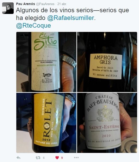 En el Twitter del Restaurante Coque, en Humanes, Madrid