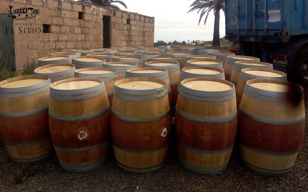 Han llegado nuestra nuevas barricas de roble….