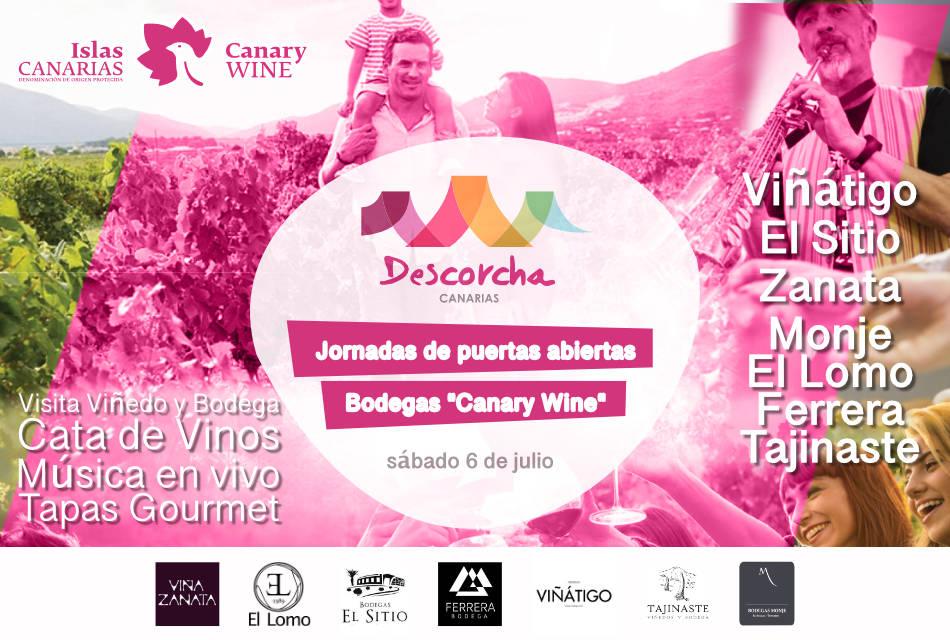 """Gran Cata de Vinos Canarios """"Descorcha Canarias"""" abre las puertas de bodegas asociadas a la DOP Islas Canarias """"Canary Wine"""" el sábado 6 de julio"""