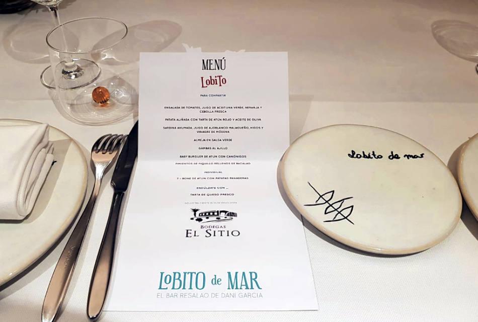 "Cata-Maridaje en ""Lobito de Mar"" del chef Dani García"
